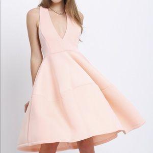 Dresses & Skirts - Deep V Neck Backless Flare Dress
